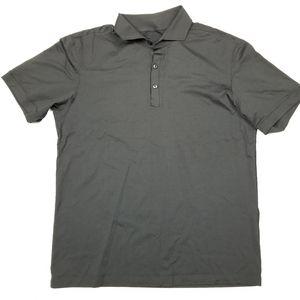 Lululemon Men's Polo Shirt Sz Large EUC Black